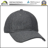 wholesale High quality custom wool baseball cap with adjustable