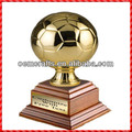 New design resin custom football Gold Soccer Trophy