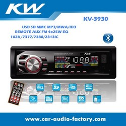 CAR MP3 Stereo Player with USB SD Card AUX inputs Support FM Radio