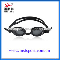 2015 silicon swimming goggles with degree factory china