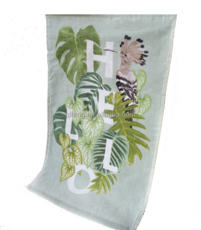 100 cotton reactive printing large size green colors beach towel chair cover