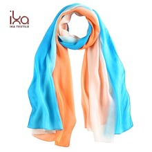 Digital print Long Summer Neckwear Transparent Women Sex Muslim Silk Scarf