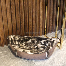 Wholesale new design plush boat shape pet dog cat bed for large cat
