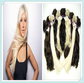 2014 human long hair extensions weaving Factory Supply Cheap New Fashion Wholesale Straight Hair golden/ brown/black color
