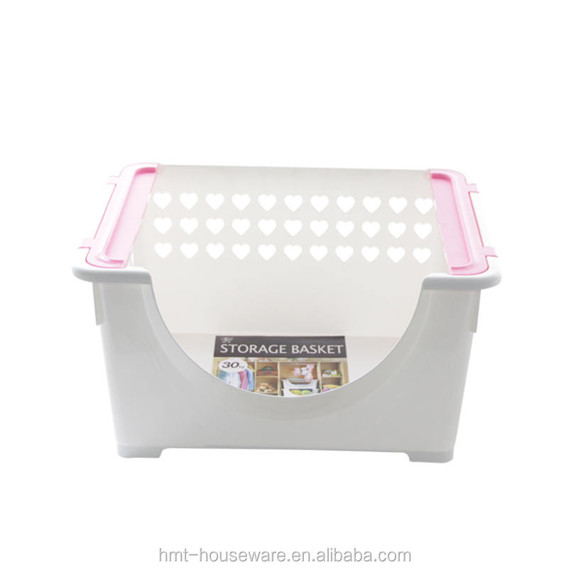 Good quality wholesale household stackable plastic storage boxes for storage clothes plastic toy box