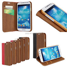 Wood pattern stand case for Samsung S5 with Card Slot