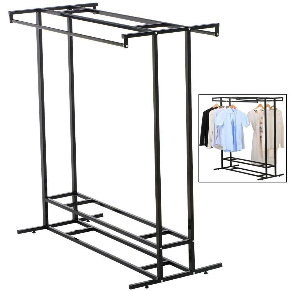 Rack Stainless Steel Double Rod Clothes line Washing Hanging Organizer