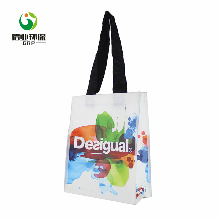 Wholesale daily shopping use pp non woven long tote hand bag