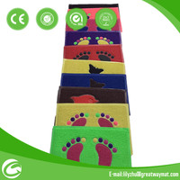 colorful pvc foot cleaning mats
