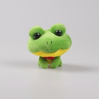 lovely green plush stuffed animal frog toys with big eyes