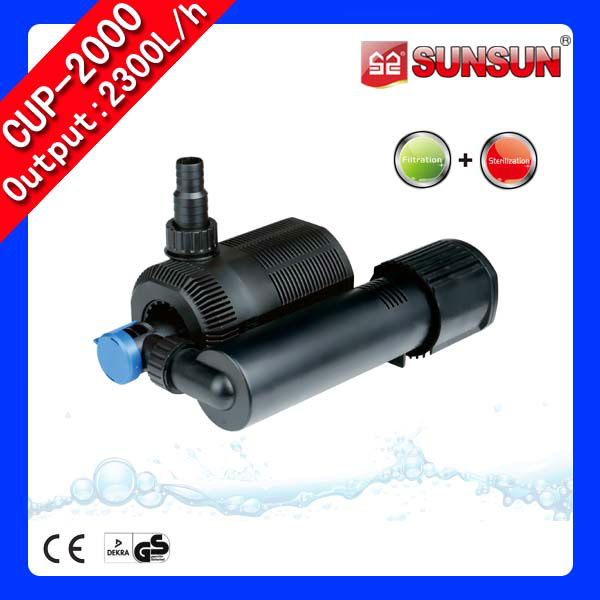 In Tank Filter Pump with UV CUP series