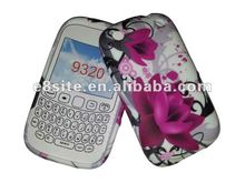Red Flowers Water Printing TPU Case For BlackBerry 9320 9220 Curve