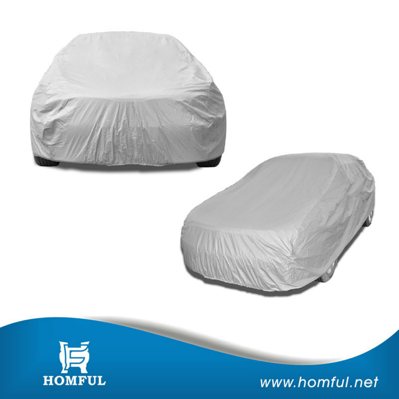 large size universal anti rain dust snow plastic car cover pe car cover anti hail car cover