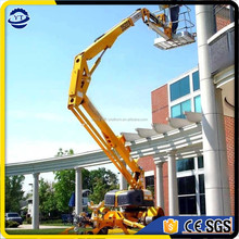 Hot sales towable boom lift trailer mounted cherry picker, folding arm hydraulic lift price