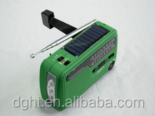 Dynamo Wind Up AM/FM Emergency Radio with LED Torch / Solar and Mobile Charger