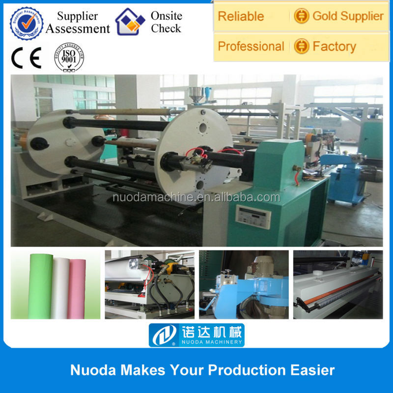 t-die extrusion laminating on fabric machine