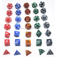 Hot selling Acrylic Marble polyhedral dice sets for game