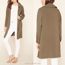jackets women, asymmetrical zipped-front long sleeve polyester spandex european style thick winter olive jackets for ladies