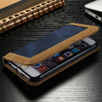 2015 New Jean Wallet Flip Case for iPhone 6s, for iPhone 6s Mobile Jean Phone Cover Case, Flip Mobile Case for iPhone 6