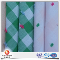 60cotton 40polyester swiss dotted gingham check fabric for girl dresses