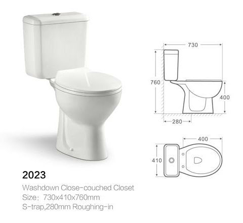 Hot sale best flush 4 inch outlet full set two piece toilet