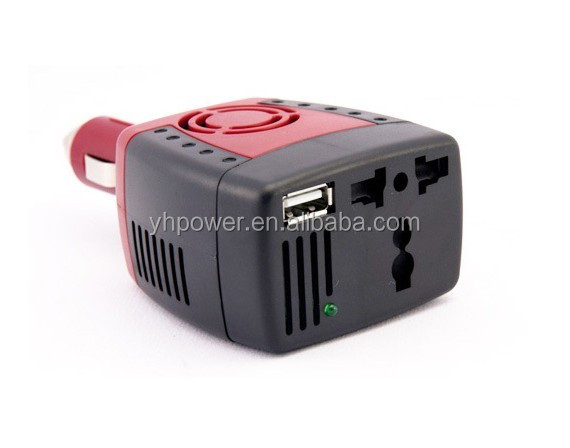 150W USB Car Power Inverters 12V DC To 220V AC Auto Power Adapters Car Converter for Cellphone Camara etc+USB Port 5V 2.1A