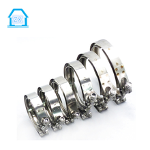 Custom Stainless steel T bolt V band exhaust hose pipe clamps