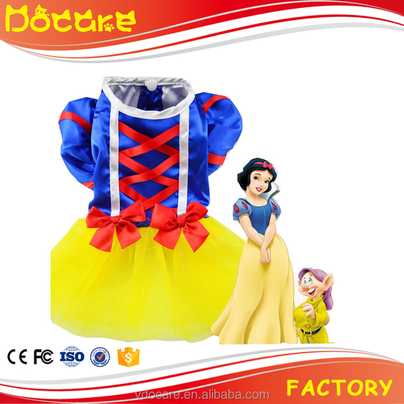 Snow White Puppy Dog Cat Dress Clothing Pet Apparel