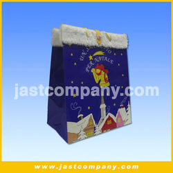 Santa Claus Sound Gift Bag with Button, Wholesale sound Paper Gift Bag