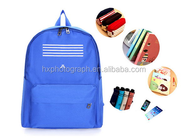 2016 Wholesale High Quality Polyester Material Student School Backpack