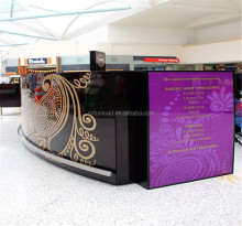 modern custom shopping mall beauty eyebrow threading kiosk for sale