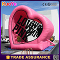 factory price pink inflatable advertising love letters balloon