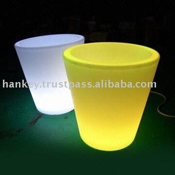 solar mood light flower pot
