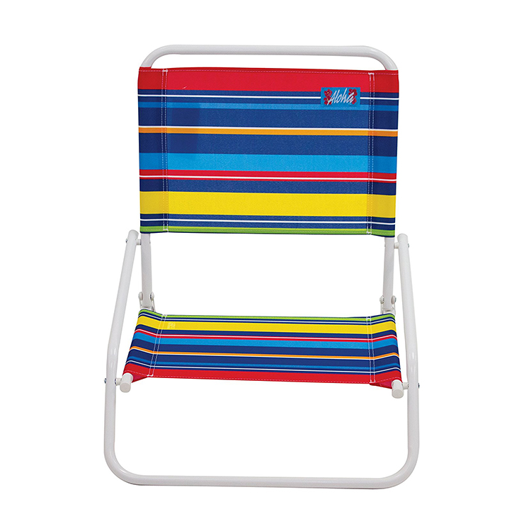 Stripe pattern beach chair for outdoor use leisure longue chair