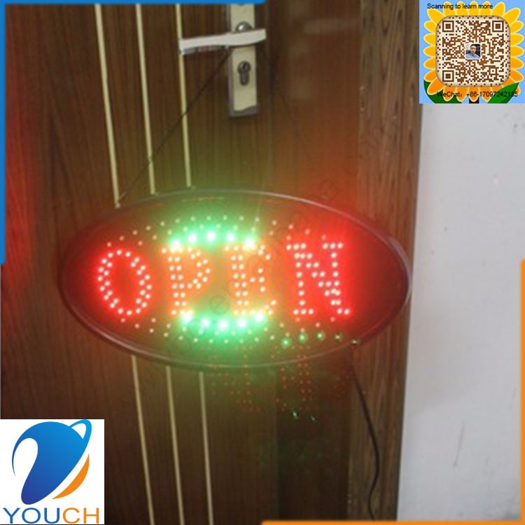 High brightness colourfull led open closed sign