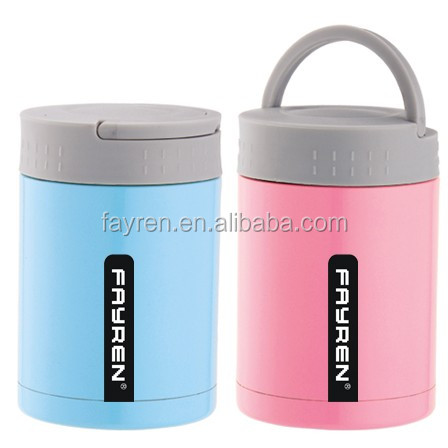Vacuum food jar/vacuum insulated food flask/stainless steel thermos lunch box