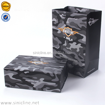 Sincline 2016 Military style camouflage innovative cheap shoe box designs paper shoes boxes