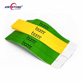 13.56mhz HF 1k F08  Cheap Durable Paper RFID Festival Wristband