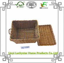 natural wicker dog carrying basket