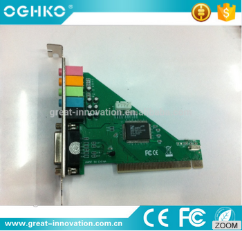Professional design mini 6 channel USB 3.0 PCI sound card with high speed for desktop computer