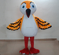 orange owl mascot costume/adult owl costume for adult