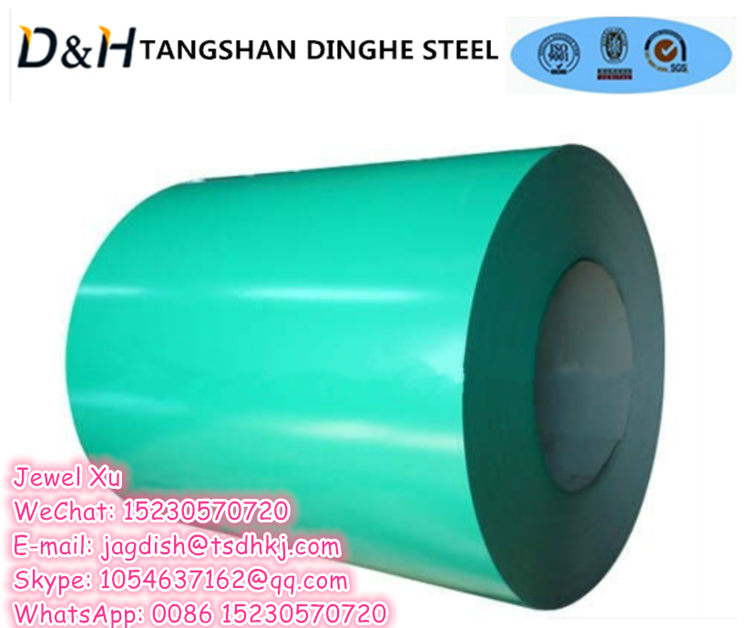 Tangshan Dinghe Color Coated Coils for Roofing Building Supply