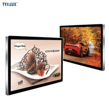 55 Inch touch screen tv black wall mounted brackets slim monitors with usb