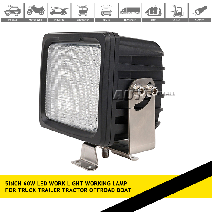 60W work light led 12V DC led worklight heavy duty led working light