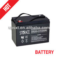 6v 200ah Maintenance free Storage battery (SR200-6)