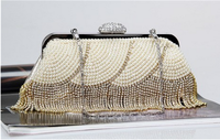 Set auger hand BaoChun high-grade pearl BaoZhu embroidered bag by hand