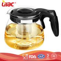 Brand new Customed Hand Blown tempered glass cooking pot antique cast iron flower chinese tea pot