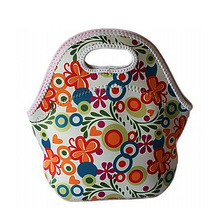 Wholesale popular children ice cooler lunch tote bag with divider drink holder