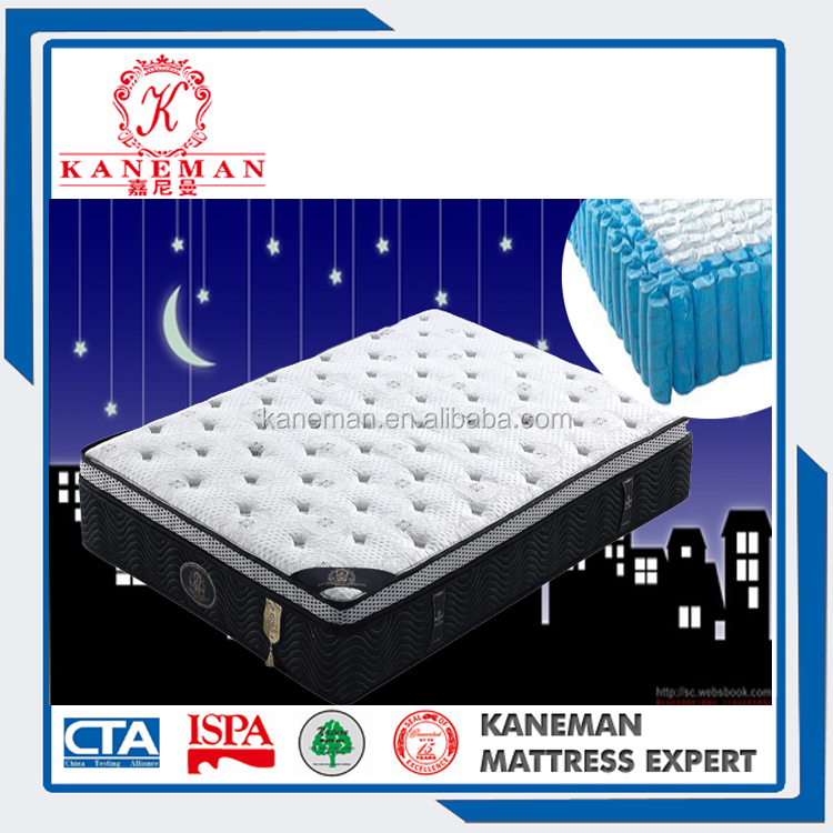 Fashionable roll pack machine mattress from mattress manufacturer latex and memory foam
