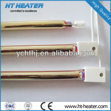 ROHS glod coating radiant heating element far infrared quartz heater tubes